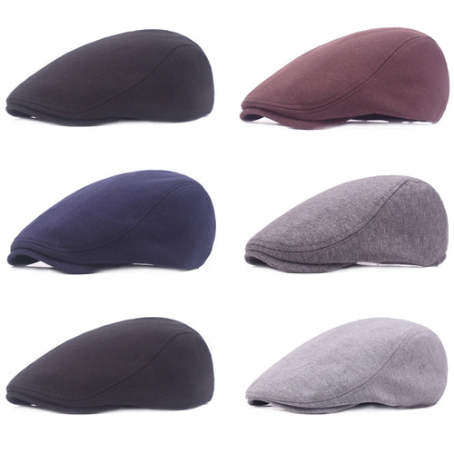 Men's Plain Cot Cabbie Ivy Driving Flat Hat Newsboy Golf Beret Outdoor Cap HATCS0502