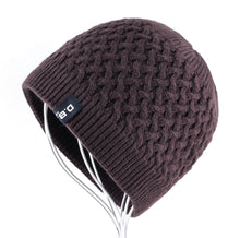 Load image into Gallery viewer, Men's Skullies Hat Beanies Winter Bonnet Knitted Wo Hat Add Velvet thick Caps Men Outdoor Casual Warm Knitting Gorros Homens