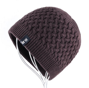 Men's Skullies Hat Beanies Winter Bonnet Knitted Wo Hat Add Velvet thick Caps Men Outdoor Casual Warm Knitting Gorros Homens