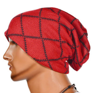 b54e48016c0 Men s Women s Cot Casual Knit Baggy Beanie Oversize Fashion Winter Hat Ski  Slouchy Striped Chic Cap