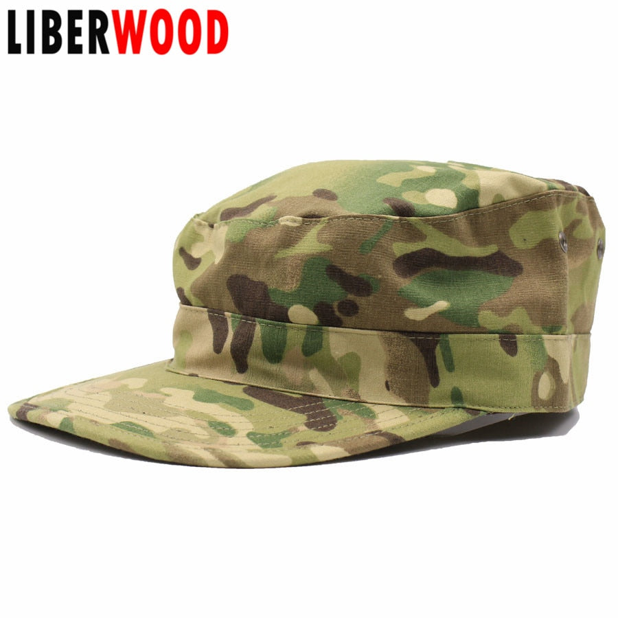 Men tactical camo Cap Hat Army Force Camouflage caps jungle hunting cap Security Law Enforcement Patr Hat Caps black Flat top