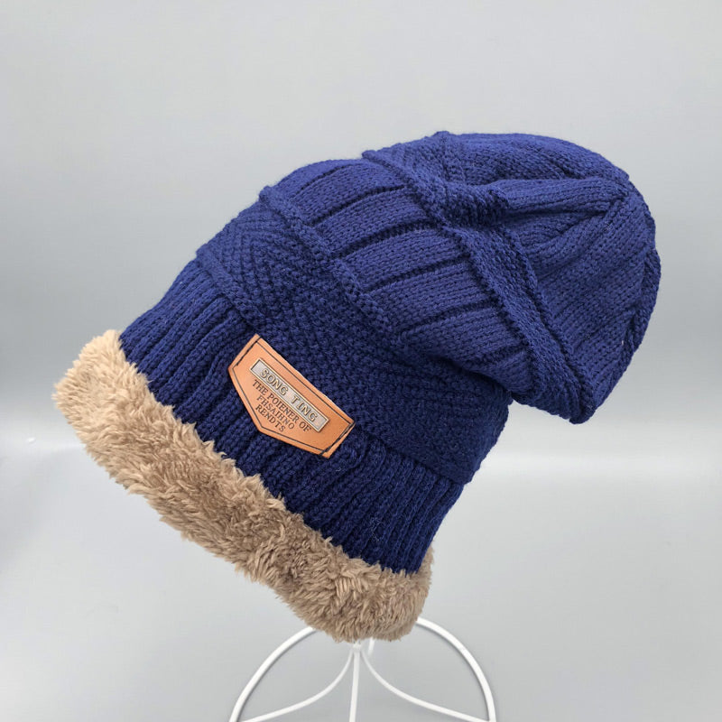 d952afaaaa8 Mens Neck warmer winter hat knit cap scarf cap Winter Hats For men ...