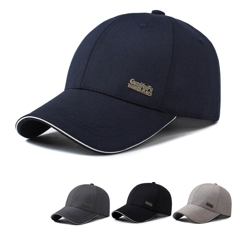 Mens Spring Adjustable Baseball Caps Male Simple Cot Fitted Black Formal Snapback Dad Hat Fashion Breathable Truck Hats
