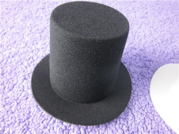 Mini Top Tall Hat Man Women Wedding Party Fascinator Hat EVA 9cm Millinery Hat Base DIY Craft  Solid Man Women Dance Hat A006