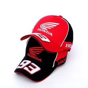 c1e2bea4 Moto GP 93 Motorcycle Racing Hat Motocross Riding Hats 3D Embroidered Wing  Racing T Baseball Cap
