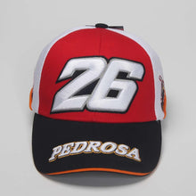 Load image into Gallery viewer, Motorcycle Racing Baseball Cap Pedrosa Dani Design Cot Baseball Hat Men Sports Novelty Emboridery Gorras Caps Free Shipping