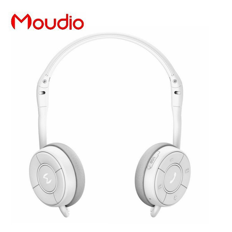 M100 White Bluetooth Sports Headphones Stereo Music Earphones For Samsung  Mobile Phones With Mini Microphone