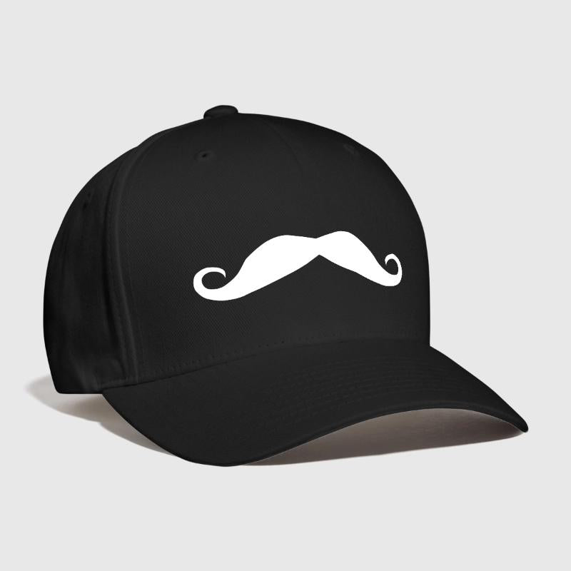 Moustache  Embroidered Customized a fine top lip for a gent Barber Shop Chap Choir Edwardian look  punk chap Curved Dad hat
