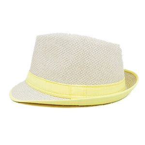 NEW Yellow Brim Exquisite Candy Color Belt Decorated Simply Designed Sun Hat For Men and Women