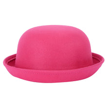 Load image into Gallery viewer, NIBSSER Bowler Hat Dome Cap Wo Felting Bowler Hat Fedora For Adult Children Winter Roll-up Brim Derby Hats