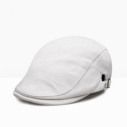 Spring Autumn Retro Leisure Women Men Unisex Beret Hats  Flat Cap Visor Caps Boina Coarse cloth Cotton