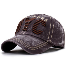 Load image into Gallery viewer, NYC Embroidery Fashion Cap High Quality Trucker Baseball Cap Retro Washed Ball Hat Curved Brim Sport Cap Street Leisure Dad Hat