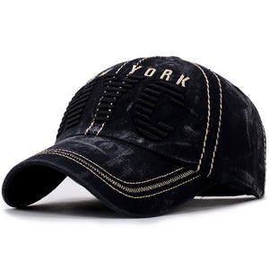 NYC Embroidery Fashion Cap High Quality Trucker Baseball Cap Retro Washed Ball Hat Curved Brim Sport Cap Street Leisure Dad Hat