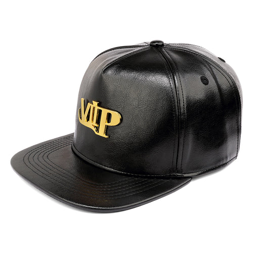 f5a0ffd9b7d New Gold Letter VIP Baseball Caps PU Leather Casual Flat Brimmed Belt  Buckle Adjustable Co Snapback