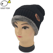 Load image into Gallery viewer, Neck warmer winter hat knit cap scarf cap Winter Hats For men knitted hat men Beanie Knit Hat Skullies Beanies
