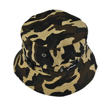 Load image into Gallery viewer, New 2017 Summer Mens Women Camo Camouflage Military Hip Hop Bucket Hat Hot Wide Brim Cap Fisherman Hats Z2