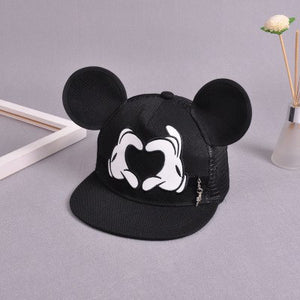 New Baseball Cap Children Mesh Snapback Summer Cap Cartoon Mickey Lovely Sun Hat Casquette Hip Hop Hat For Boys Girls