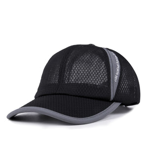 New Brand  Baseball Cap Trucker Adjustable Hat Plain Mesh Breathable Flat Visor Solid Blank Snapback Co Casual Sun Hat