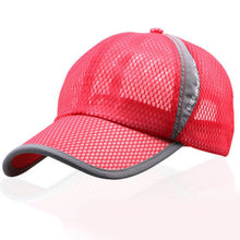 Load image into Gallery viewer, New Brand  Baseball Cap Trucker Adjustable Hat Plain Mesh Breathable Flat Visor Solid Blank Snapback Co Casual Sun Hat