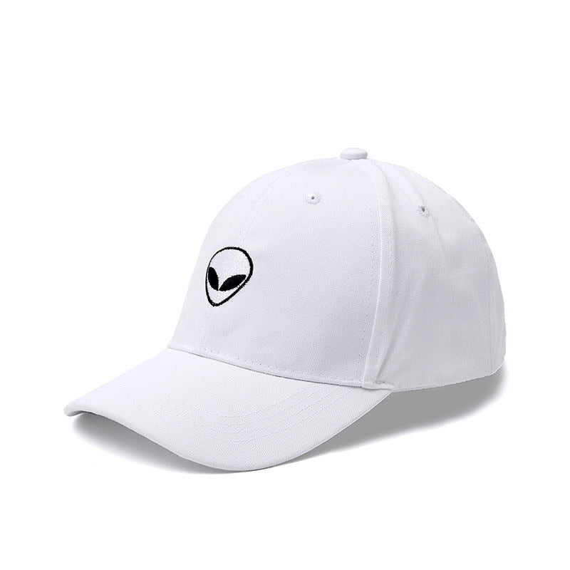New Fashion Aliens Snapback Cap Outstar Saucer Space E.T UFO Fans Black Fabric Baseball Cap Hip Hop Hat Dad Hat for Men Women