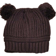 Load image into Gallery viewer, New Fashion Baby Girls Boys Kids Cute Dual Ball Knit Sweater Cap Winter Warm Hat