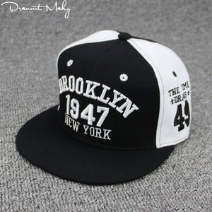 a4df3807cac New Fashion Men Womens 1947 BROOKLYN Letters Hip Hop Caps Leather Sun Hat  Snapback Hats Embroidery NEW YORK Baseball Cap NY Cap