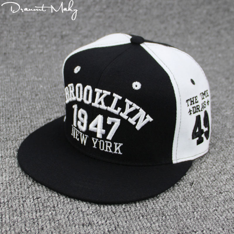 87d56691bcc New Fashion Men Womens 1947 BROOKLYN Letters Hip Hop Caps Leather Sun Hat  Snapback Hats Embroidery NEW YORK Baseball Cap NY Cap