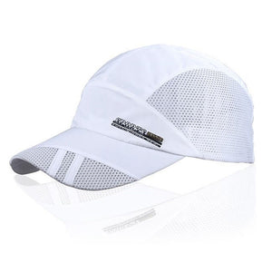 New Fashion Mens Summer Outdoor Sport Baseball Hat Running Visor cap white