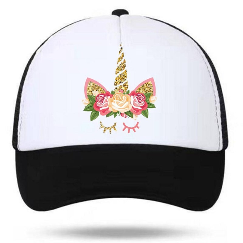 New Fashion Style Children Summer Cap Unicorn Snapbacks Hat For Boys Girls Baseball Hats Women Sun Stop Travel Mesh Kids Caps