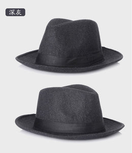 New Fashion Wo men Black Fedora Hat For Women's Wo Wide Brim JazzChic Cap Vintage Panama Sun Top Hat