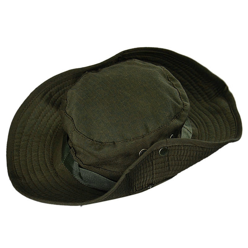 74e2aa13419 New Flat Hats Summer Black Bucket Hat Boonie Hunting Fishing Outdoor W –  oePPeo - Master of Caps   Hats