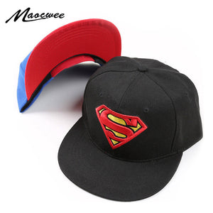 New High Quality Baby Boys Girls Snapback Hats Children Batman Superman  Baseball Cap Kids Cartoon Hip Hop Hat For 3-8 Years Old 04655cb79af