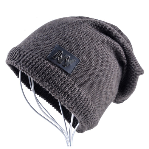 New Men's Winter Beanies Knitted wo hat plus velvet keep Warm Caps man bonnet Gorros hats For Men Casual Turban hats