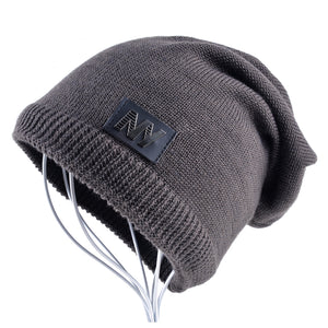 c92133e9ea3 New Men s Winter Beanies Knitted wo hat plus velvet keep Warm Caps man  bonnet Gorros hats For Men Casual Turban hats