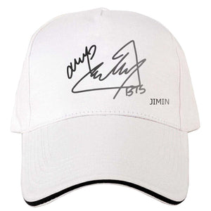 New Mens Snapback Hats BTS Signature Print Fashion Cap Hats Adjustable Baseball Cap Bulletproof Young Age Group SUGA Airport Hat