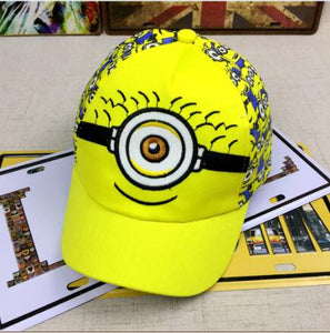 New Minions cartoon for Minions  Adjustable Caps girl kids  Baseball hat Co Boy Hip-hop cosplay accessary