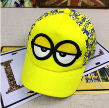 Load image into Gallery viewer, New Minions cartoon for Minions  Adjustable Caps girl kids  Baseball hat Co Boy Hip-hop cosplay accessary