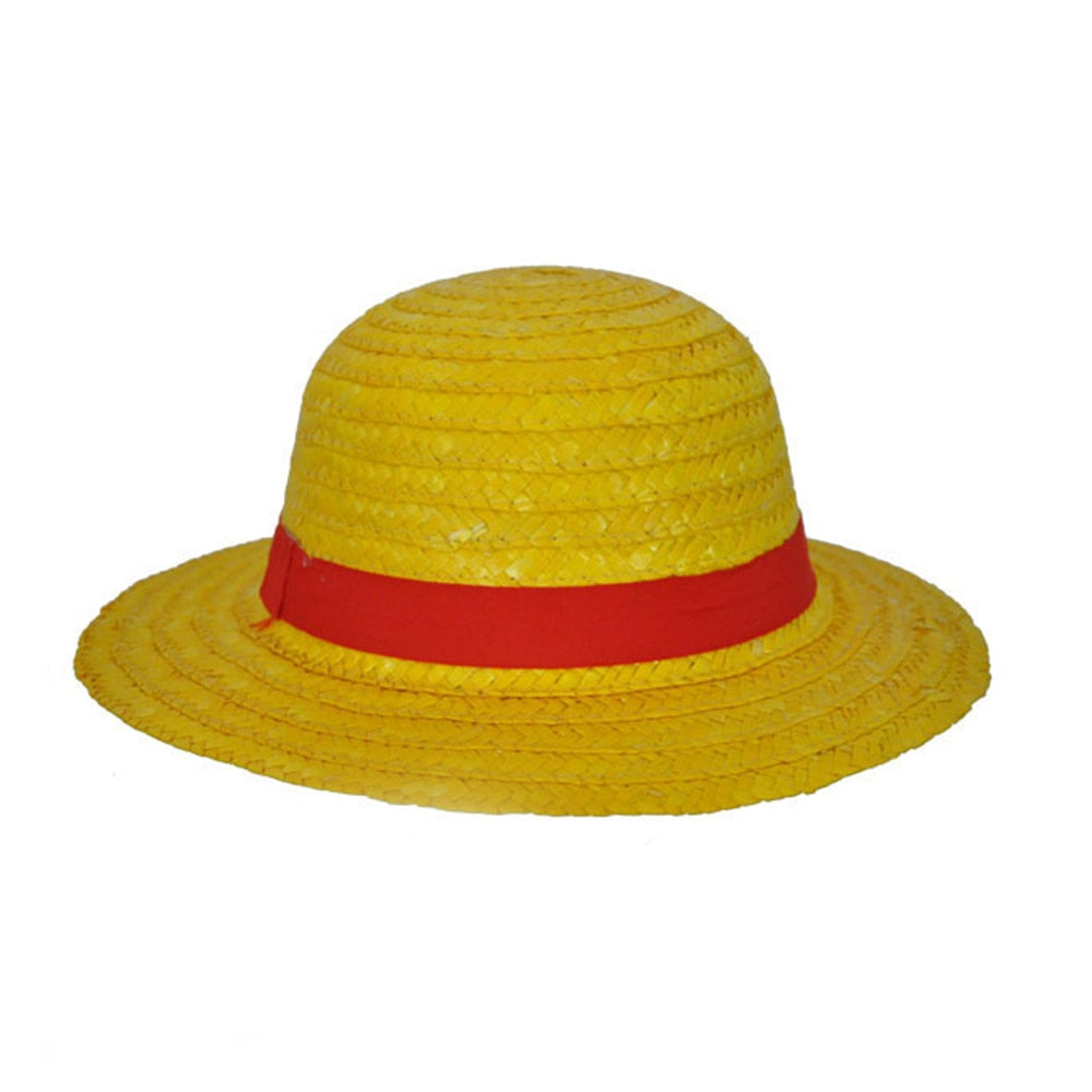 New One Piece Cosplay Cartoon Props Hat Luffy Anime Straw Boater Beach Strawhat Halloween Gift
