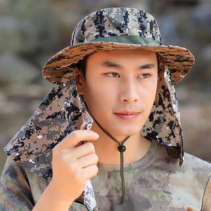 New Outdoor Hat Women Summer Quick Dry Camouflage Fisherman Sun Hat Men  Collapsible Climbing Big Wide Brim Bucket Hats 8001bf5b46ca