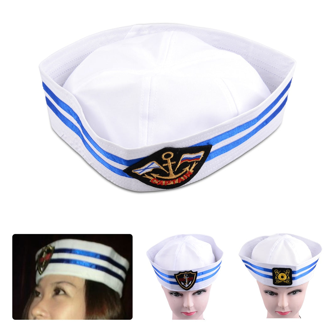 13ee43ce055 New Sailor Captain Hat Navy Military Cap Men Women Fancy Dress Party  Costume Cosplay Stage Performance