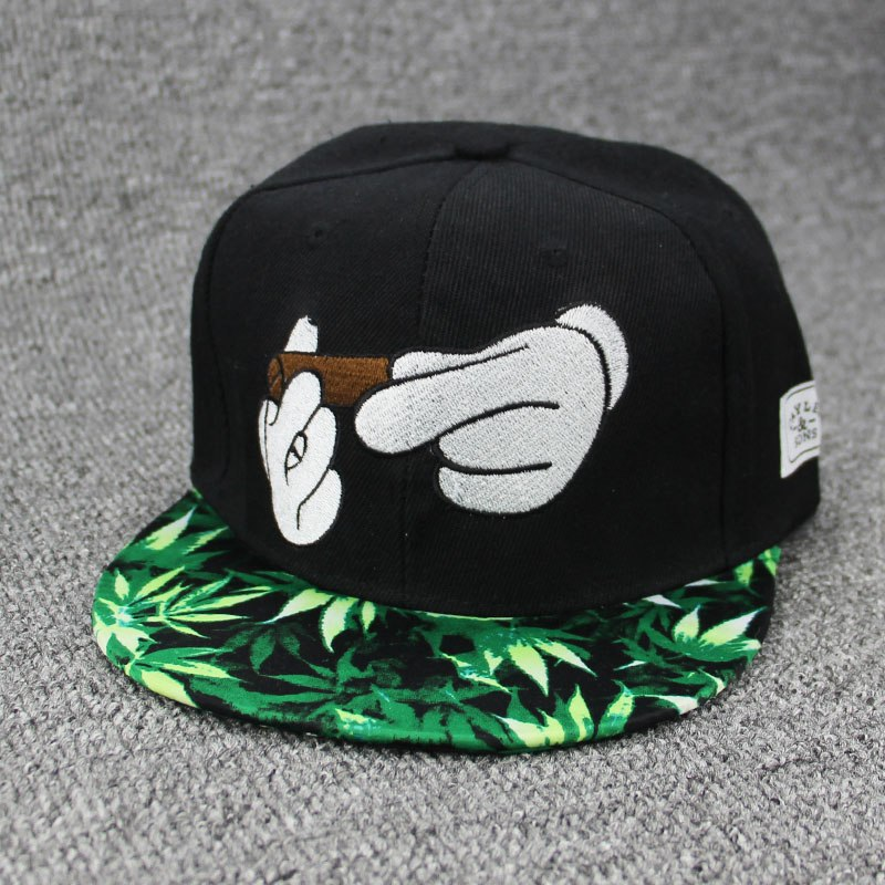 New Smoke Baseball Cap Dad Hat For Men Women Embroidery Hand Smoke Pattern Trucker Cap Weed Bone Golf Hat co style Hip Hop cap