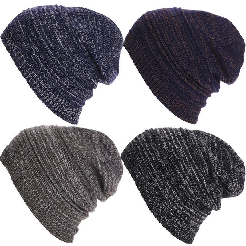New Striped Knitted Beanies Head Cap Hats Winter Snow Warm Caps for Men  Unisex Fashion Men s Hat Gorras Para Hombre 4db2c8d24d8