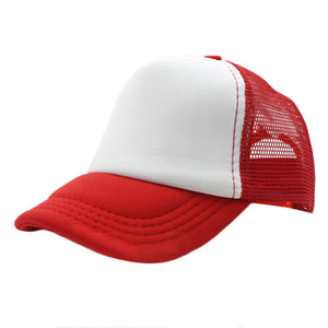 New Summer Adjustable Men Women Plain Trucker Mesh Hat Snapback Blank Baseball Cap Size