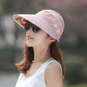 New Summer Adjustable Visor Hat With Big Head Wide Large Brim Anti-sun UV  Hat 50e5bb30eba