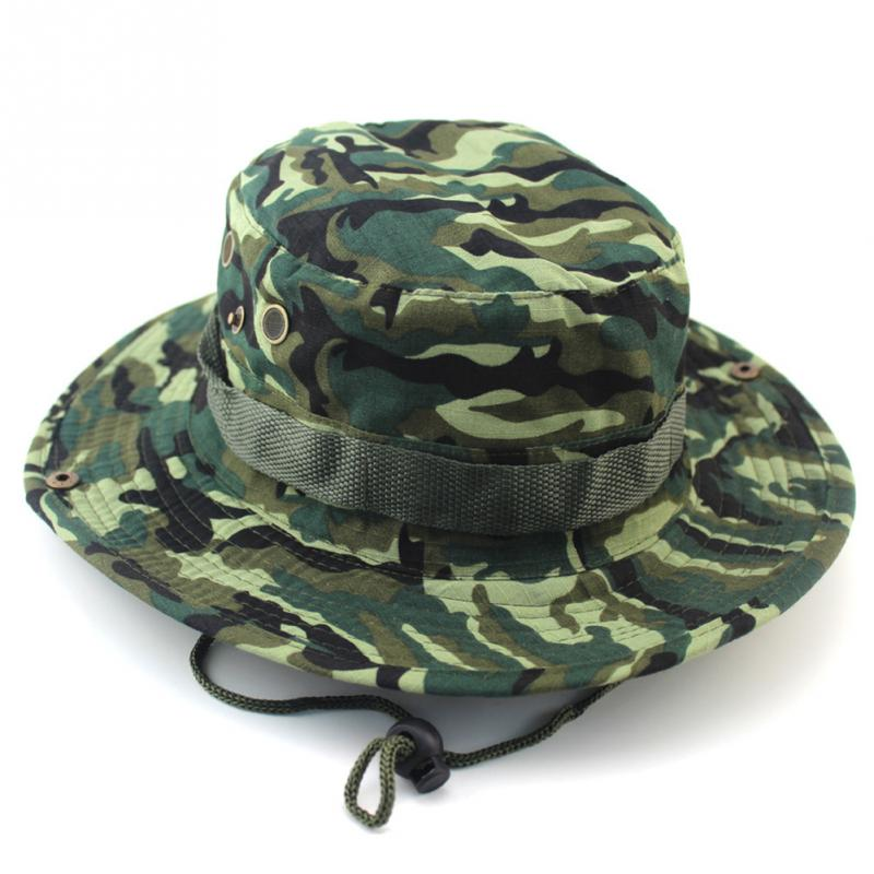 New Unisex Bucket Boonie Hat With String Camouflage Nepalese Men ... cfd8981a435