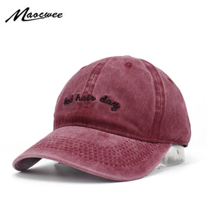New Washed Cot Bad Hair Day Snapback Embroidery Men's Baseball Cap Couple Cap Bone Fashion Dad Hat Women's Solid Color Cap