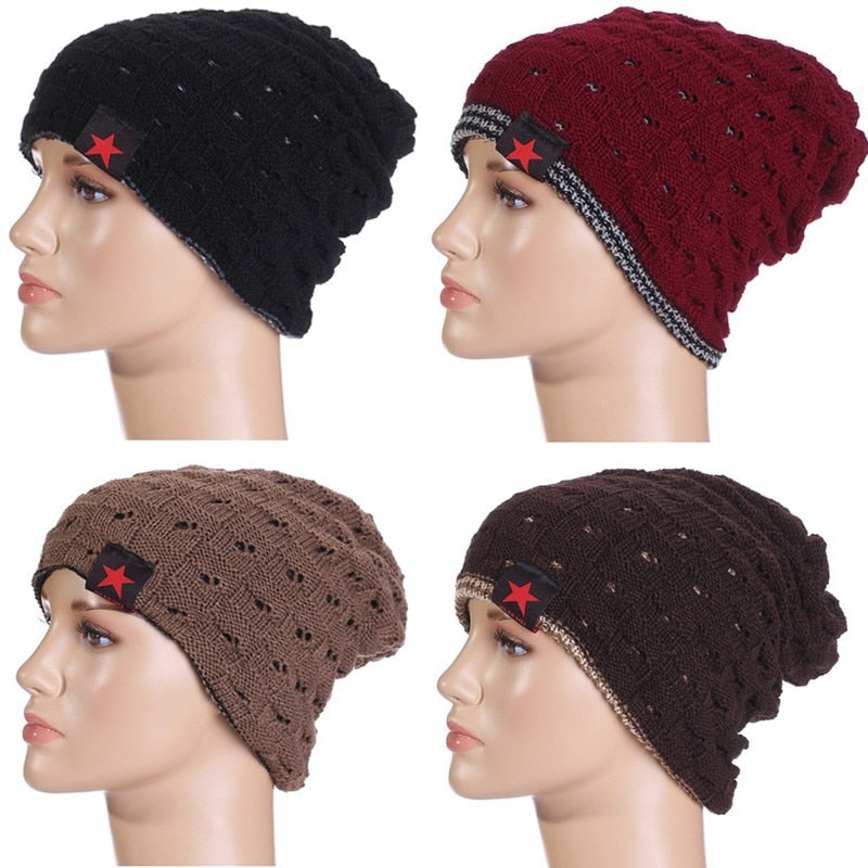 New Winter Beanie Women Men Cap Hat Trendy Fashion Warm Soft Stretch Knit Beanie Winter Hats Ski Cap