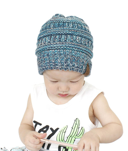ad0a01bfbad ... Knitted Baby Caps 2018. New Winter CC Mixed Blocked Blends Skullies  Beanies Children Hat Winter Baby Hat For Kids Boys