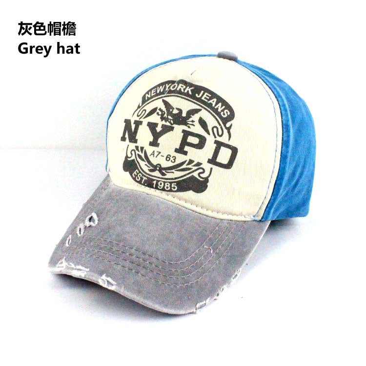 New Women Creative NYPD Pattern Old Worn Style Baseball Hat Casual Visor Hot Men Be Charm Outdoor Sports Baseball Cap