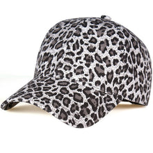 Load image into Gallery viewer, New Women's Baseball Hats Leopard print Snapback Cap Females Outside visor sun Cap Fashion Accessories Casquette Gorras